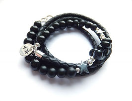 'BACK TO BLACK'  Lederarmband