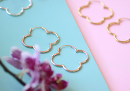 'FLOWER  HOOPS'  Ohrringe