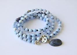 'IBIZA TRUST' Blue Scarabäus  Armband / Kette