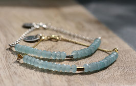 'BRIDE LINE' Aquamarin Armband