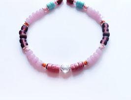 'SMILEY' Armband Silber
