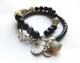 'BUDDHA LOVE' BLACK Armband