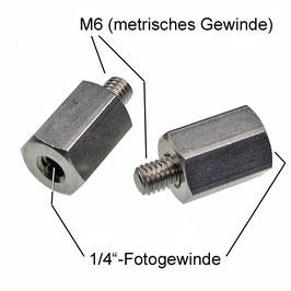 """Sechskantadapter 1/4""""-innen auf M6-außen"""