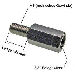 """Adapter Flex 3/8""""-innen auf M8-außen"""