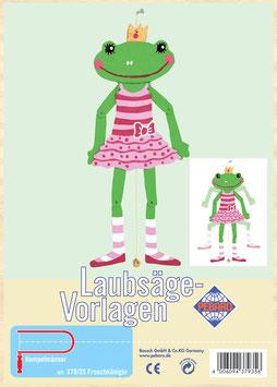 Laubsägevorlage Fröschkönigin-Hampelmann