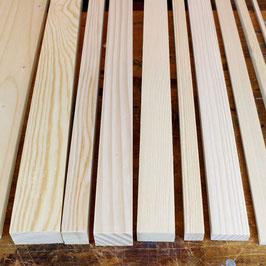 Fichtenholzleisten in verschiedenen Größen