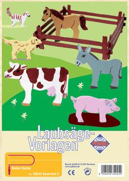 Laubsägevorlage Bauernhoftiere