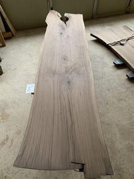 Die schlanke. Schöne Nussbaum-Platte. Schwarznuss. Länge 300cm! Schöner Ast. Nr. 1098