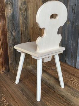 Kinderstuhl mit Holzfehlern, vergünstigt, Linde. Genau der auf den Fotos