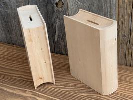 Buch-Kässeli Holz-Sparkasse in Buchform B-Qualität