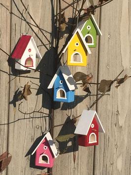 Mini-Vogelhäuser Bunt
