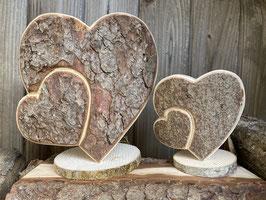 Herzen mit Rinde