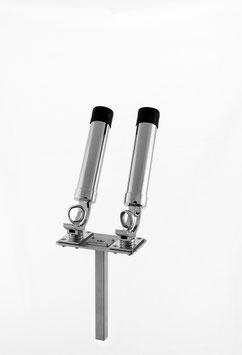 Salmostar Rutenhalter 2-Fach mit Steckling