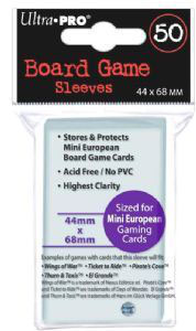 Board Game Sleeves 44x68mm (50)