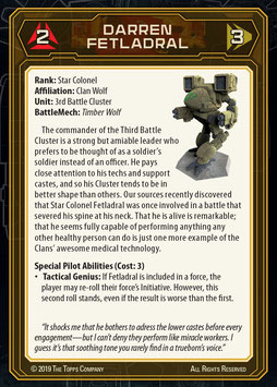 MechWarrior: Card Packs