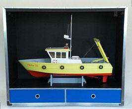 Transportbox / -Vitrine für Modellboote