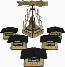 Lichterhaus  Modell 6  Weihnachtsmarkt