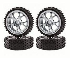 Big Wheel Set Rallye, silber (4)