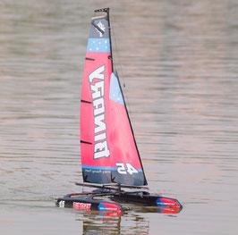 Binary Mini Katamaran Segelboot 2,4GHz , rot