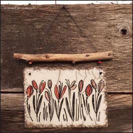 Plaque Les Tulipes du jardin