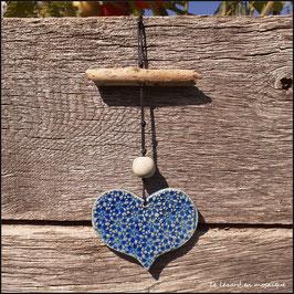 Suspension Cœur bleu