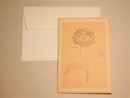 Grußkarte - Double Tulip