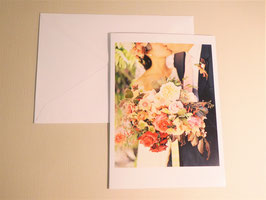 Grußkarte - Bride Kiss Roses