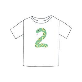 Zahlentier Zwei Schlange