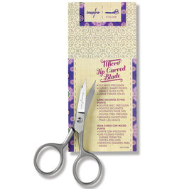 "INSPIRA® 4"" Large Micro Tip Scissor, Curved"