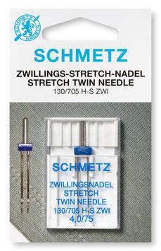 Dubbele stretchnaald  Naaldsysteem: 130/705 HS ZWI