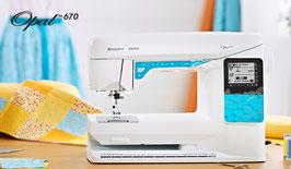 Opal 670  Een extra-efficiënte computergestuurde naaimachine met veel ingebouwde assistentie waarmee u fantastische naai resultaten kunt behalen!