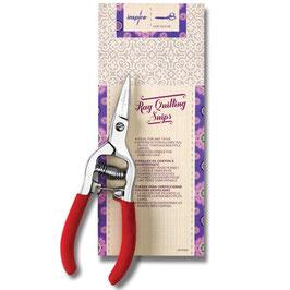 """INSPIRA® 6.25"""" Rag Quilt Snip Scissors"""