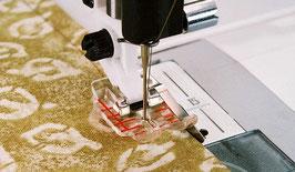 Transparante patchworkvoet 6 mm met geleider rechts