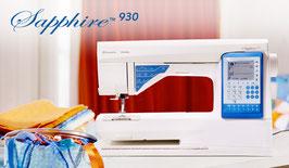 SAPPHIRE™ 930   Met functies zoals het EXCLUSIVE SENSOR SYSTEM™ en de exclusieve SEWING ADVISOR™ zorgt deze machine voor eenvoud en gemak.