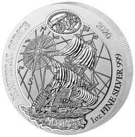 Nautical Ounce, Mayflower, 1 Oz Silbermünze, 2020
