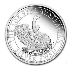 Australien Schwan 2020, Australian Swan 2020, 1 Oz Silbermünze, Proof/Polierte Platte
