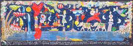 Francesco Musante - Sogno n°7953684210 bis cm 35x100 blu