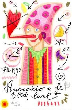 Francesco Musante - Pinocchio e le tre lune cm 10x15