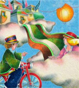 Francesco Nesi - Tra le nuvole cm 30,5x36