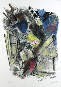 Emanuele Luzzati - Alice nella conigliera