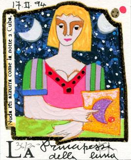 Francesco Musante  - La principessa della luna cm 8x10 bianco