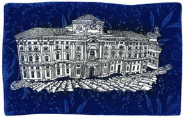 F. Tresoldi - Torino. Palazzo Carignano cm 35x25