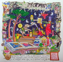 Francesco Musante - Le città invisibili - Seguendo le parole scritte di Italo Calvino ho visitato le cinquantacinque (55) città invisibili perdendomi in un viaggio senza fine cm 50x50 bianco