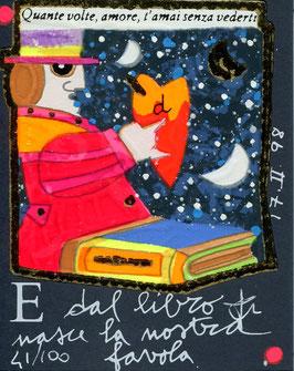Francesco Musante - E dal libro nasce la nostra favola cm 8x10 blu