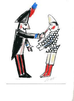 Emanuele Luzzati - Pinocchio e il Carabiniere