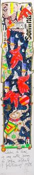 """Francesco Musante """"Ladri di lune in una notte piena di sogni colorati"""" cm 10x50 bianco"""