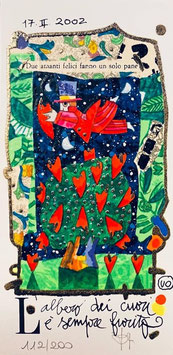 Francesco Musante - L'albero dei cuori è sempre fiorito cm 10x20 bianco