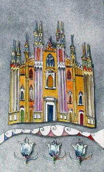 """Stefano Ramunno """"Milano - il Duomo"""" cm 24,5x34,7"""