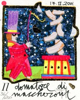 Francesco Musante - Il domatore di maccheroni cm 8x10 bianca