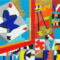 Ugo Nespolo - Bel gioco cm 30x30